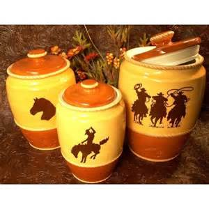 western silhouette canister set of 3 kitchen