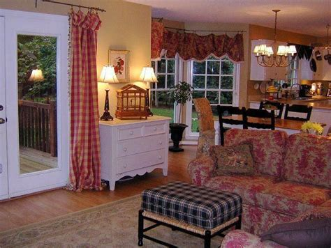 cozy country inspired great room