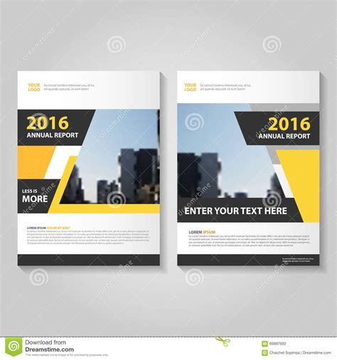 book layout design vector yellow black geometric vector annual report leaflet