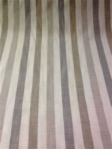 Taupe Striped Curtains Cotton Curtain Fabric Beige Taupe Grey Stripe Pattern Curtain Stripe Grey Fabric