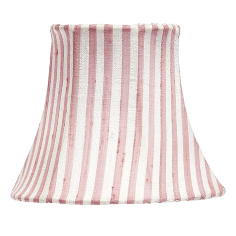 White Chandelier With Shades with Pink White Stripe Chandelier Shade By Jubilee Collection