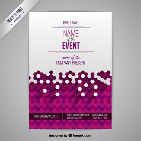 design event layout online event poster vector free download