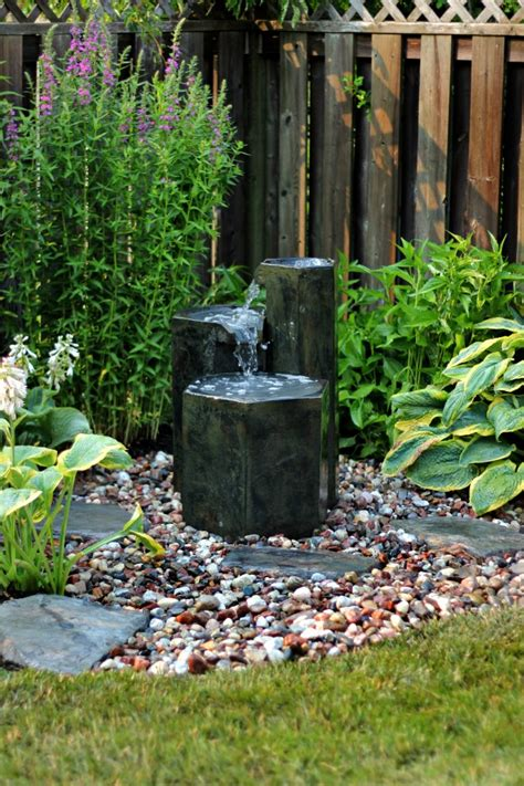 easy backyard water features easy to install garden fountain
