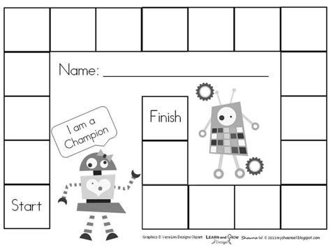 free printable blank board games education pinterest