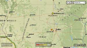springtown texas map landslide state of texas springtown texas and southern oklahoma 13 eq in the last 7