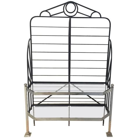 Glass Bakers Rack chrome and glass bakers rack for sale at 1stdibs