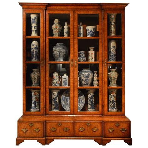 18th c chinese kitchen cabinet rare 18th century inverted breakfront veneered walnut