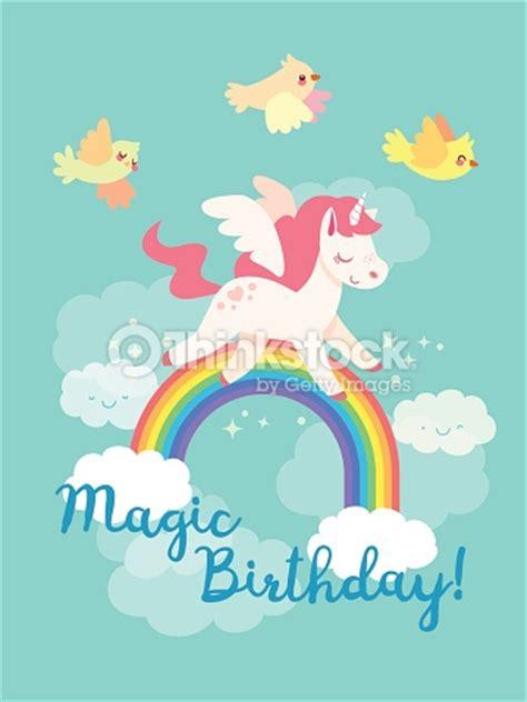 imagenes de unicornios volando m 228 rchen alles gute zum geburtstagkarte mit fliegenden