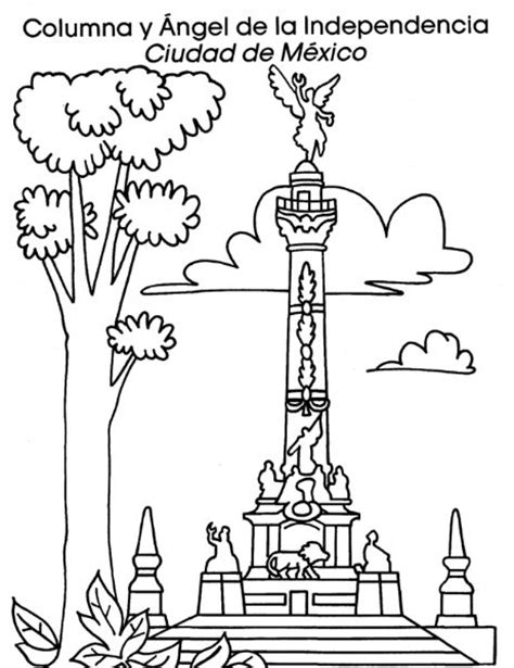 imagenes para colorear independencia de mexico monumentos importantes del mundo para colorear buscar