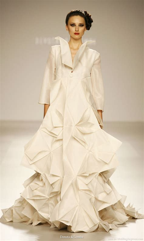 Origami Inspired Dress - wedding dress style origami style wedding dress