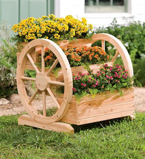 Wooden Herb Wheel Planter by Container Gardening On Container Garden