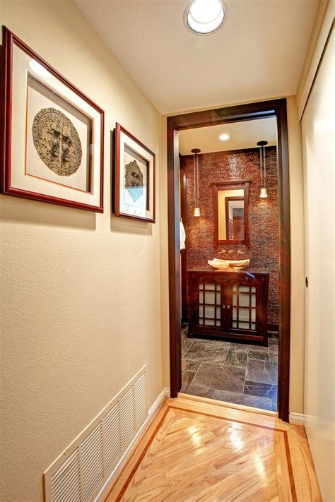 powder room accent wall ideas asian inspired powder room with tile accent wall jackson