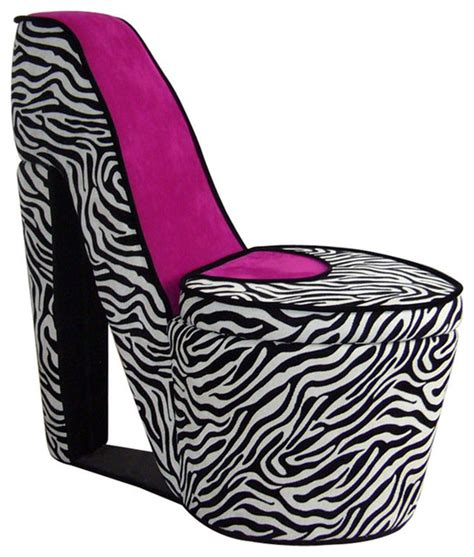 high heel chair zebra zebra prints high heel storage chair chairs by
