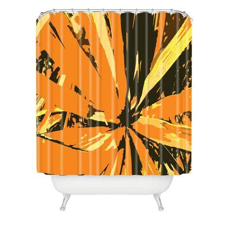 orange brown shower curtain rosie brown orange bromeliad shower curtain