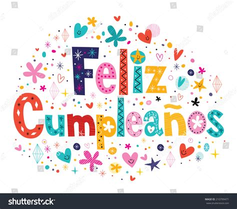 imagenes cumpleaños fashion feliz cumpleanos happy birthday spanish text stock vector