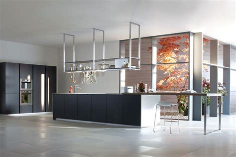 Suspended Shelves Kitchen by Black White Kitchen Suspended Pan Rack Cabinet Olpos Design