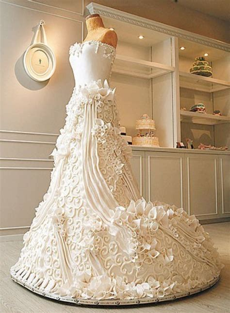Wedding Dress Wedding Cake by Amazing Wedding Cake Chocolates