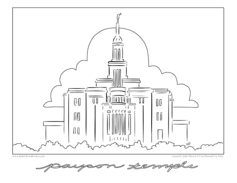 indianapolis temple coloring page julie olson books author illustrator