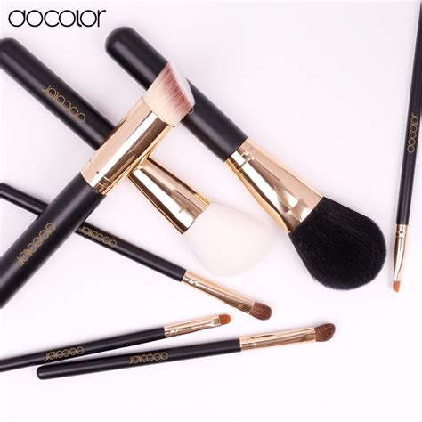 Bo Set Black 1 bộ cọ trang điểm docolor 7 pieces makeup brush set black 07