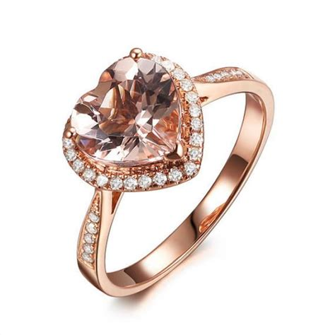 Verlobungsring Besonders by Shape 8mm Vs Pink Morganite Engagement Ring Si