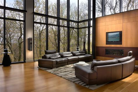 Modern cool modern living room montreal by proscenium