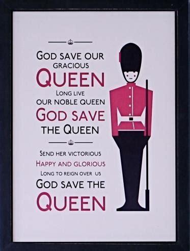 full version god save queen lyrics jubilee framed national anthem print british isles