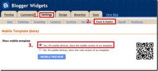 cara membuat blog versi mobile cara mengaktifkan versi mobile handphone template di