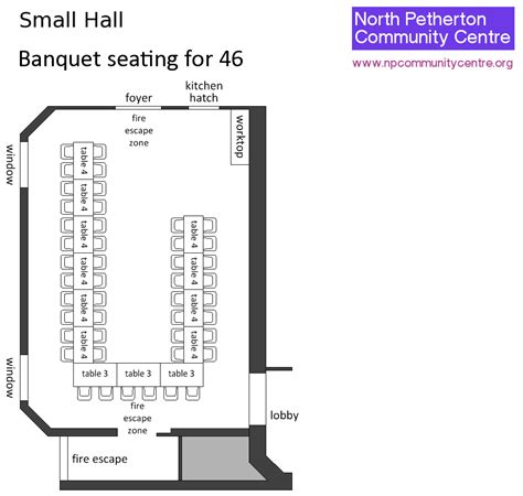 banquet hall layout design north petherton community centre small hall layouts and