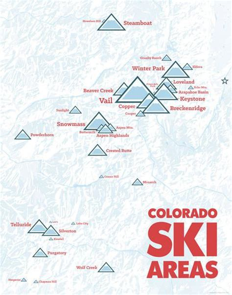 colorado ski resorts map colorado ski resorts map poster