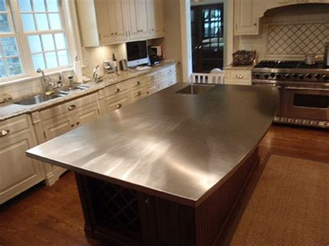 Stainless Steel Countertop Prices by Stainless Steel Kitchen Island With Integral Sink And