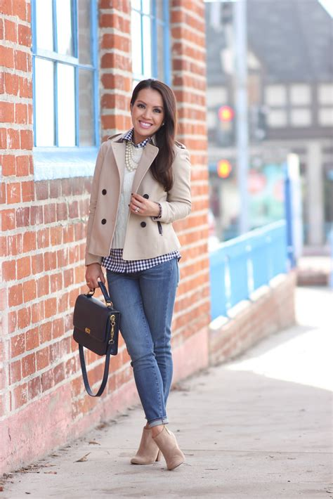 Cropped Trench Coats Stylecrazy A Fashion Diary 2 by Cropped Trench Coat And Gingham Layers Plus Sales