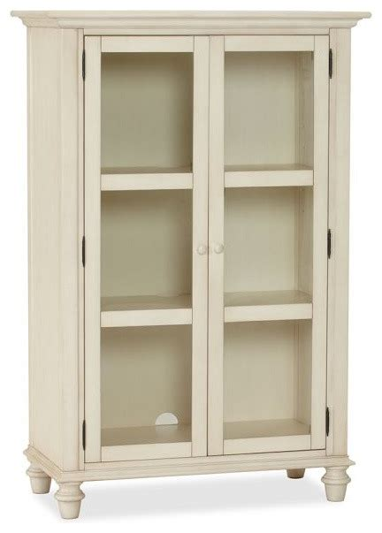 Pottery Barn Computer Armoire Tivoli Glass Cabinet Almond White Traditional Storage Cabinets By Pottery Barn