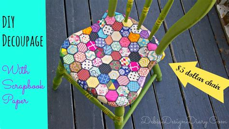 How To Use Decoupage Paper - how to decoupage a chair in a quilt pattern with scrapbook