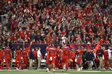 Arizona Records 2016 Ranking The Greatest Home Field Advantages In The Pac 12