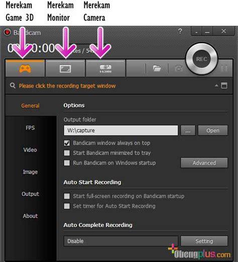 Kalkulator Pengintai Fungsi Recorder Dan Photo Capture bandicam rekam ke capture menjadi file mp4 dan