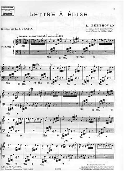 La lettre à Elise de Beethoven | Un article d'Omnilogie.fr