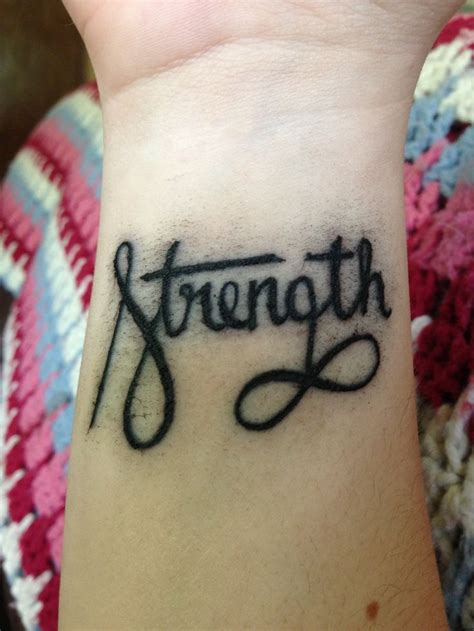 strength infinity tattoo strength with infinity sign tattoos