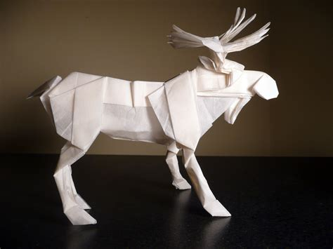 Origami Moose - bull moose by princehorizon on deviantart