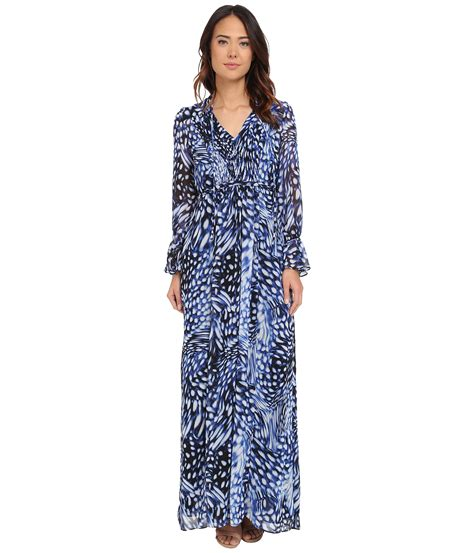 Printed Ruffle Sleeve Dress by Lyst Papell Printed Maxi Dress With Ruffle