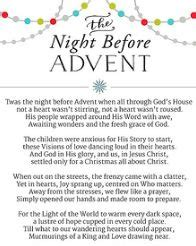 night before advent party advent poem and the nights on