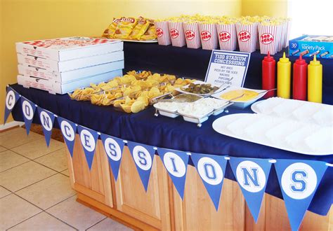 sports themed birthday decorations sports concessions banner