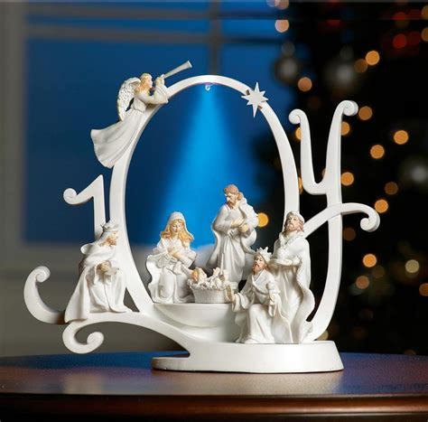 lighted joy nativity scene holiday sculpture just been sold