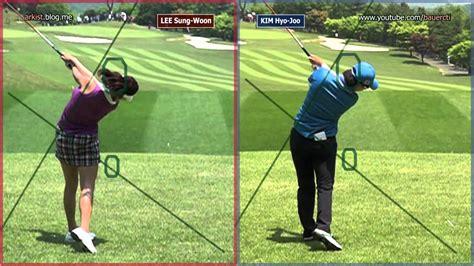 klpga swing slow hd kim hyo joo vs lee sung woon driver golf swing