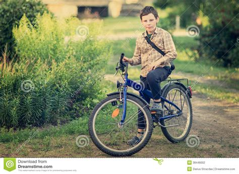 on a bike boy on a bicycle stock photo image of caucasian path 38446002
