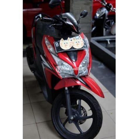 Bagasi Vario Techno motor matik honda bekas vario techno 125cc merah mulus terawat pajak panjang bekasi dijual