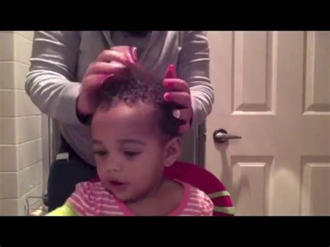 texturizer on 1 year old babies hair how to care for mixed babies hair youtube