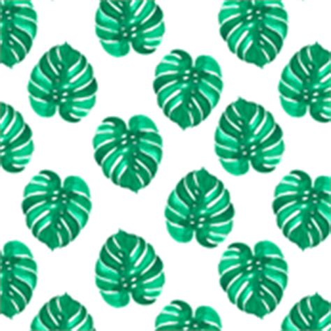 Bando Flower Leaf Blue palm leaves fabric wallpaper gift wrap spoonflower