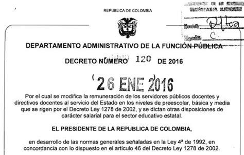 salario docente 2016 pdf decreto 1116 decretos de colombia aumento salarial autos post