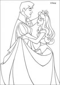 sleeping beauty coloring pages princess aurora and