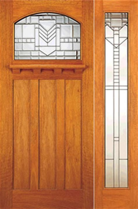 Arts And Crafts Exterior Doors Mahogany Craftsman Style Prehung Door And Lite